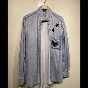 Aritzia Talula Chambray shirt - size med